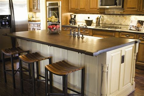 Countertops For Kitchen Islands 15 Ideas For Wooden Base Stools In Kitchen Bar Decor