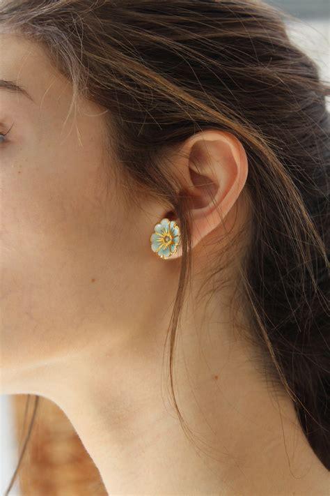 Cherry Studs beklina porcelain cherry blossom stud earrings garmentory