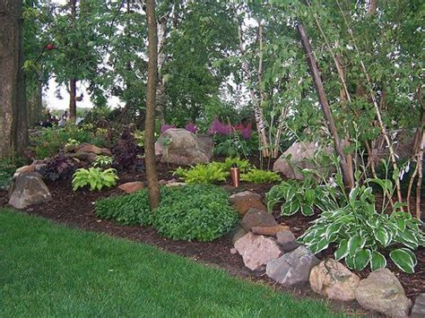 Shady Backyard Ideas Shade Garden Landscape Design Hosta Astble Heuchera Gardens Landscaping Rock Garden Shade