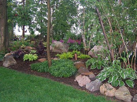 shady backyard ideas shade garden landscape design hosta astble heuchera