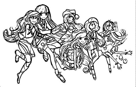 my little pony group coloring pages my little pony coloring pages friendship is magic group