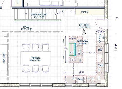 kitchen island sink size kitchen layouts