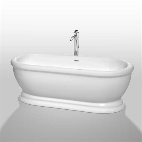 wyndham bathtubs mary 68 quot soaking bathtub by wyndham collection white