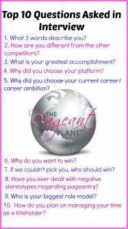 most popular pageant questions and answers