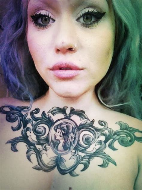 chest tattoo cameo cameo tattoos cameo tattoo tumblr picture awesome ink