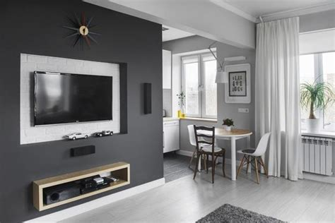 Simple Gray and White Decorating Ideas for Small Apartments
