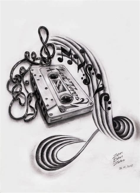 music art tattoo designs stencil and pencil drawings and sketches