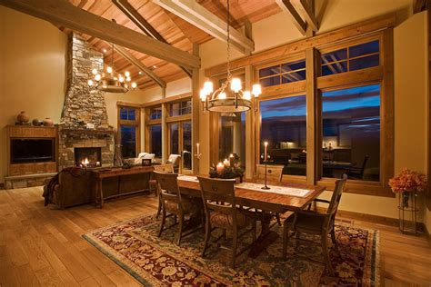 mountain homes interiors mountain mansion traditional dining room portland