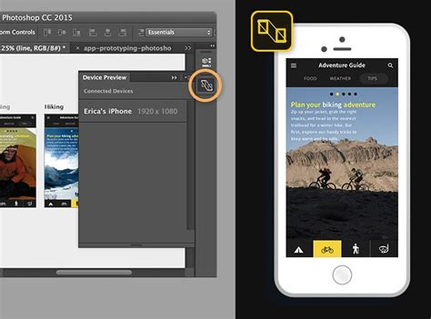 photoshop mobile app prototyping with photoshop artboards and preview cc
