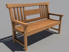 wooden bench wooden bench 3d model 3ds obj max sldprt