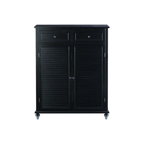 shoe storage cabinet black home decorators collection 24 pair shoe storage cabinet