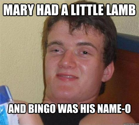 Mary Meme - mary had a little lamb and bingo was his name o caption 3