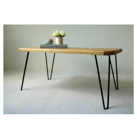 ruby coffee table with hairpin legs by renn uk