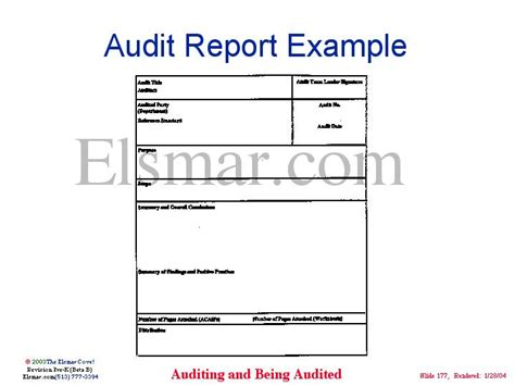 audit report template iso 9001 audit report exle