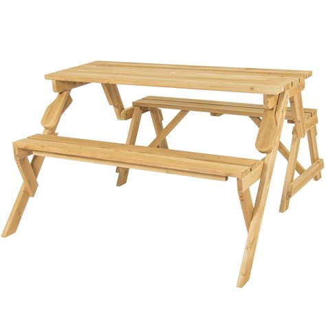 2 in 1 picnic table bench bcp patio 2 in 1 outdoor interchangeable picnic table