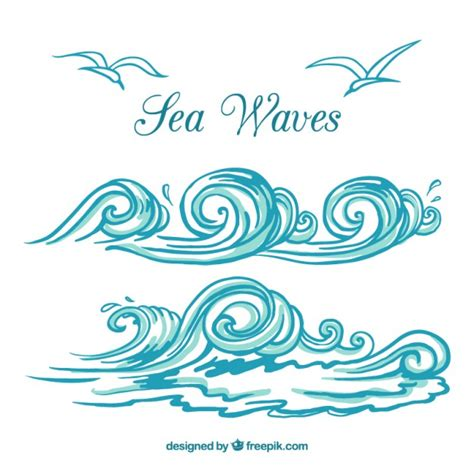 olas de mar vector premium thinktank moana pinterest