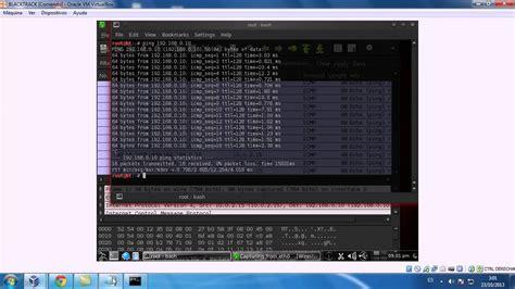 wireshark backtrack tutorial capturar trafico con wireshark en backtrack 5 youtube