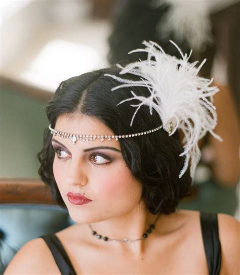 hairstyles with haedband accessories video veils inspiration 1920s fascinator feathers flapper