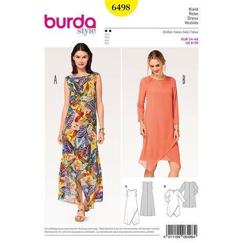 patterns free burda misses two layered dress burda sewing pattern 6498 sew