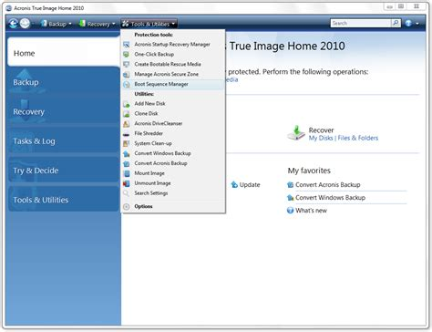 acronis true image home 2010 booting from vhd file to