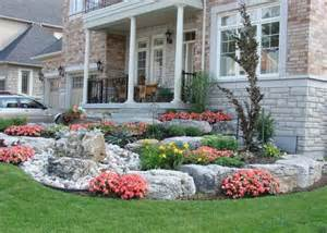 Front Yard Landscaping Plans Designs - front yard rock landscaping ideas for making your home complete modern house design ideas