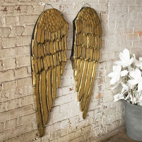 Gold Wings Wall Decor by Gold Wings Wall Plaque Set Of 2