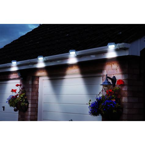 set of 2 solar gutter lights white at wilko com