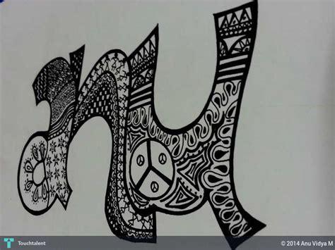 name doodle graffiti anu vidya m touchtalent