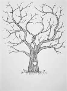 draw a family tree template best 25 wedding fingerprint tree ideas only on