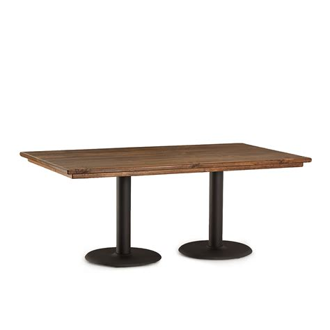 Dining Table Metal Base Rustic Dining Table W Metal Base La Lune Collection