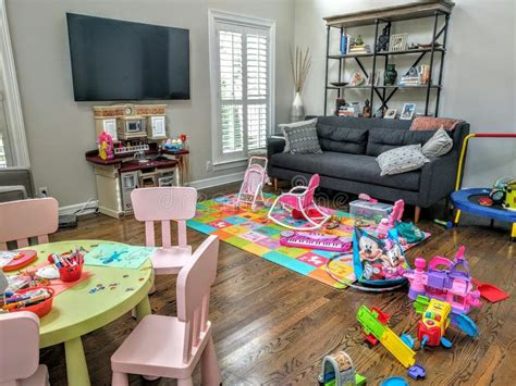 organizing kids toys in living room homeminecraft living room full of toys editorial image image of kids