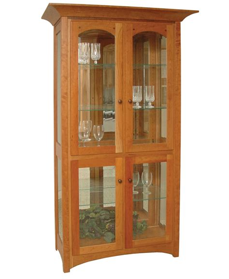 mission style curio cabinet royal mission curio cabinet amish direct furniture