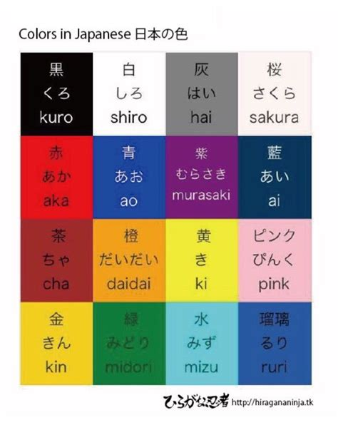colors in japanese 1000 images about learn japanese hiragananinja on