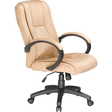 beige office desk chair amazon com comfort products 60 0971 padded faux suede