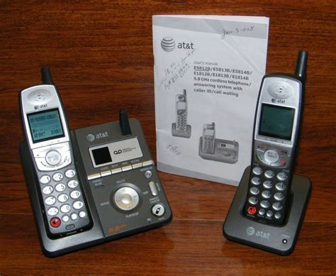 4 phone system at t e5812b 2 4 ghz dual handsets single line cordless phone system w power 650530013683 ebay