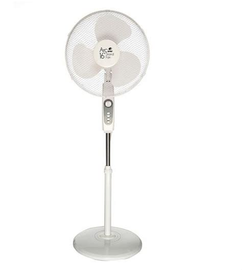 white stand up fan orbit arc 16 inch oscillating stand fan white price