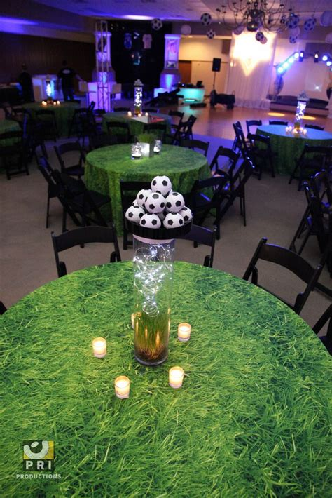 basketball themed events soccer centerpieces for a sports themed event with grass