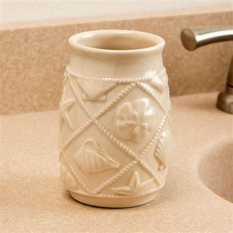 Print Tumbler shell print ceramic tumbler bathroom tumbler kimball