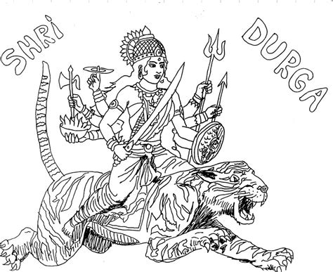 free coloring pages of hindu god