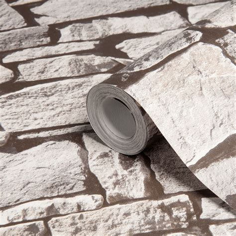 diy at b q colours grey stone effect wallpaper clearance diy at b q