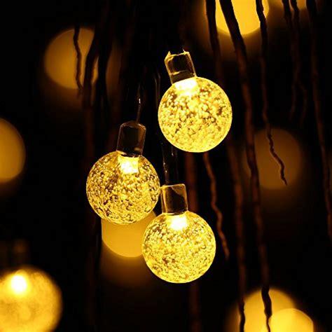 qedertek solar string lights qedertek globe outdoor solar string lights 20ft 30 led
