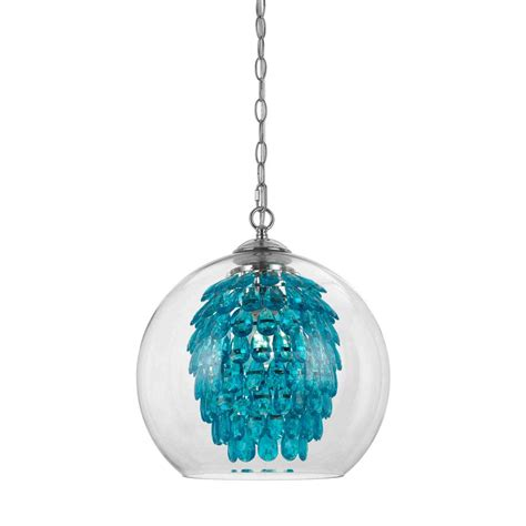 af lighting glitzy 1 light turquoise chandelier 9102 1h
