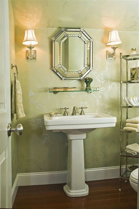 powder room design ideas 2017 grasscloth wallpaper
