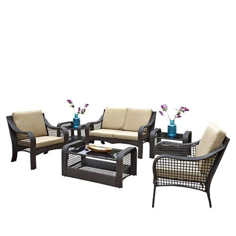 Accent Chair And Table Set Lanai Loveseat Two Accent Chairs Two End Tables And Coffee Table Homestyles
