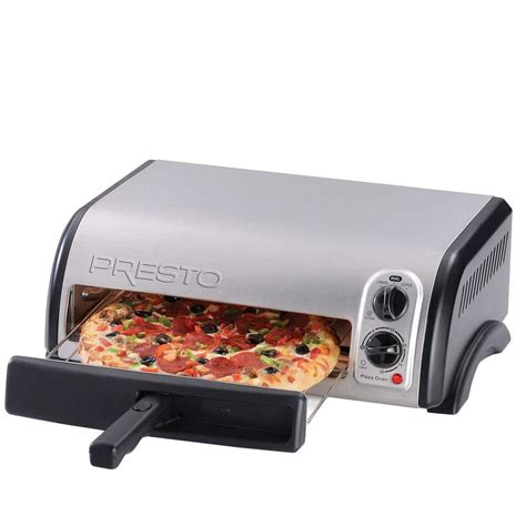 presto stainless steel pizza oven 03436 the home depot