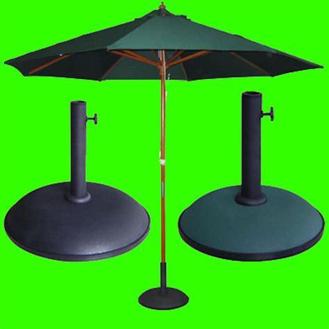 Patio Parasol Base by Garden Parasol Base Green Black Or Parasol Umbrella With