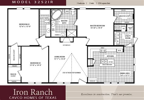 best of 2 bedroom mobile home floor plans new home plans