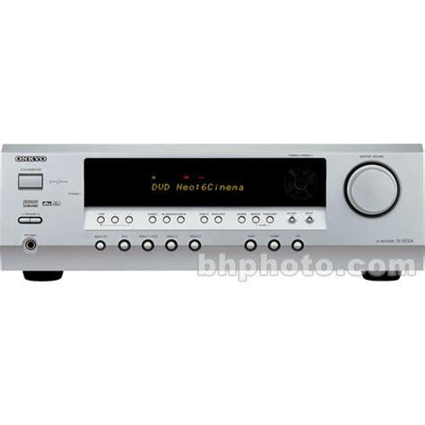 onkyo tx sr304 home theater receiver silver txsr304s b h