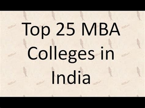 How To Apply Mba In India by Top 25 Mba Colleges In India