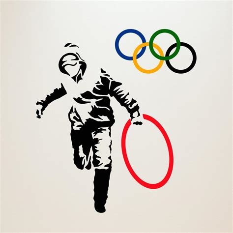 Target Com Curtains Stealing Olympic Rings Banksy Wall Decals Wallsneedlove